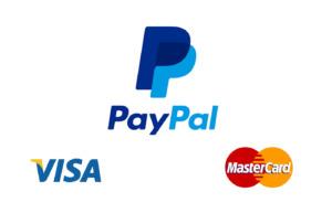 PayPal, Master Card, Visa